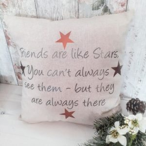 friends are like stars cushion