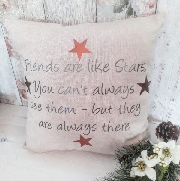 friends are like stars cushion