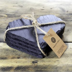 heart shaped welsh slate coasters