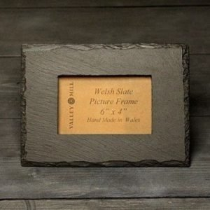 welsh slate photo frame six by four inches