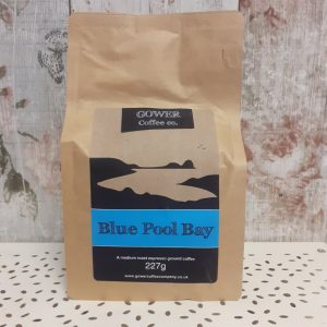 gower coffee, medium roast espresso ground coffee, blue pool bay