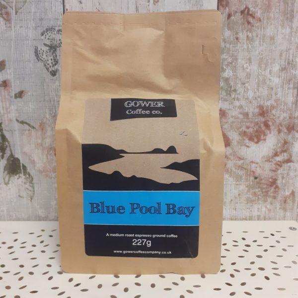 gower coffee, medium roast espresso ground coffee, blue pool bay