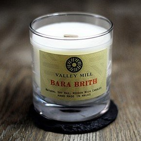 bara brith soy wax wooden wick candle
