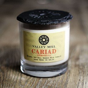 cariad citronella wood wick soy wax candle