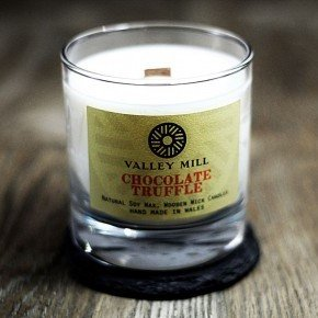 chocolate truffle wood wick soy wax candle