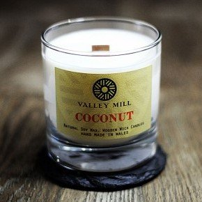 coconut soy wax wooden wick candle