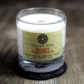 roast chestnut soy wax wooden wick candle
