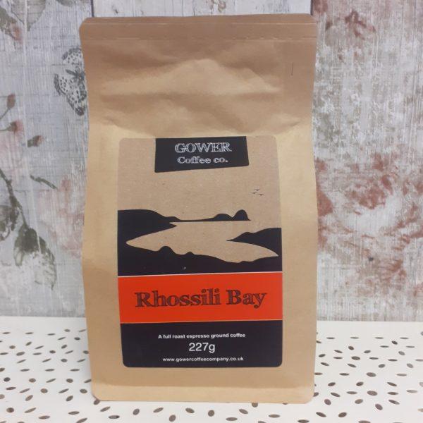 gower coffee, rhossili bay, full roast espresso ground coffee