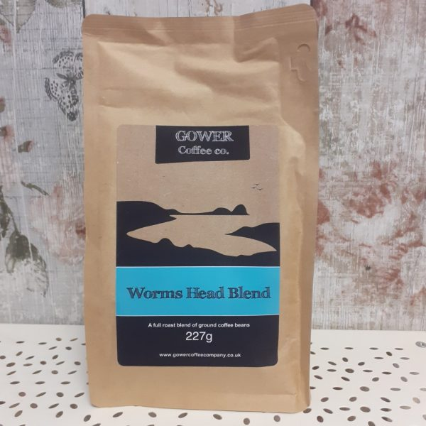 gower coffee, worms head blend, full roast ground coffee beans