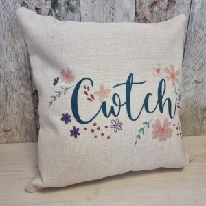 floral cwtch cushion