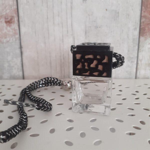 black empty glass mini oil diffuser