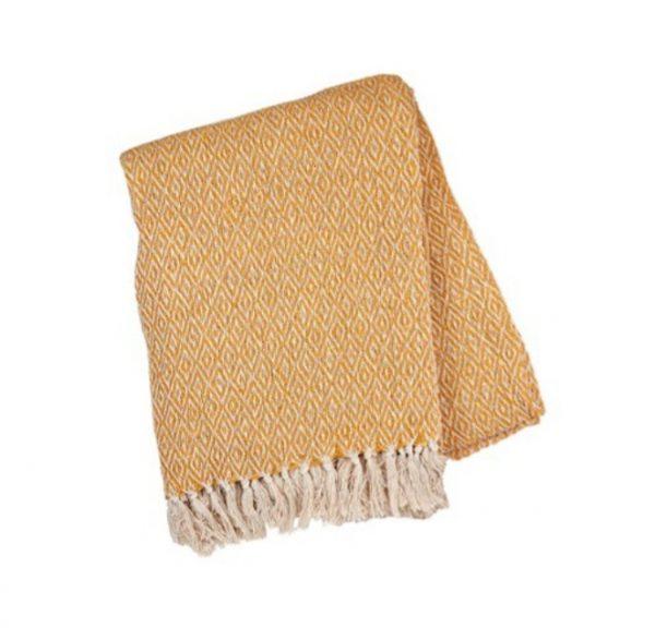 mustard boho blanket