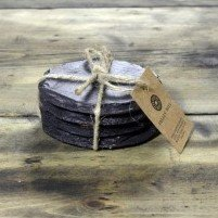 round welsh slate coasters