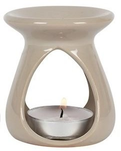 teardrop oil burner in grey