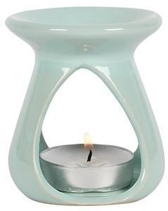 small teardrop blue oil burner