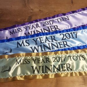 three tier personalised sashes