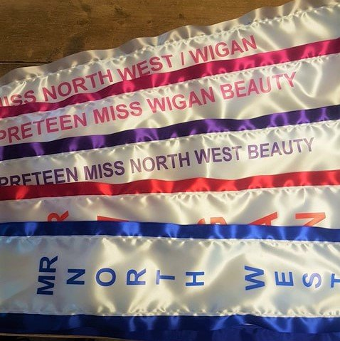 three tier pageant sashes