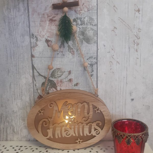 Merry Christmas LED Hanging Sign