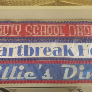 personalised banner with frills