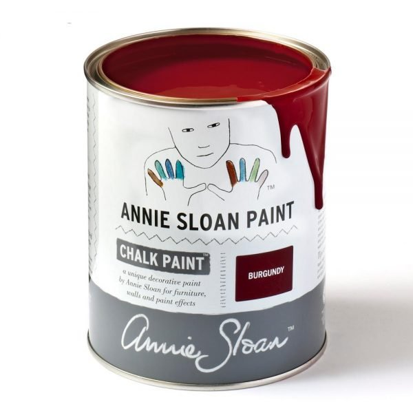 burgundy annie sloan chalk paint