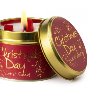 christmas day lily flame candle