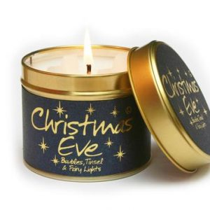 christmas eve lily flame candle