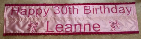 personalised double banner with frills