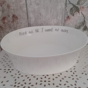 feed me til I want no more welsh connection serving bowl