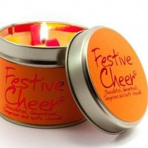 festive cheer lily flame candle