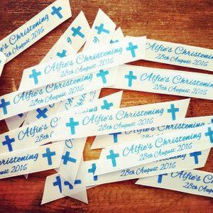 personalised printed ribbon confetti