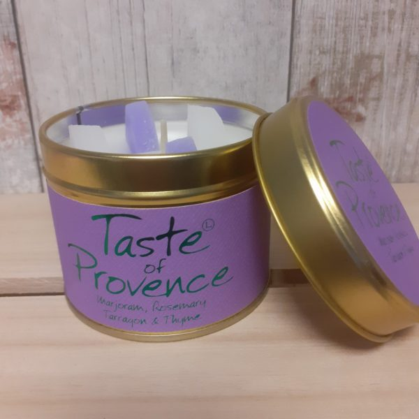 taste of provence lily flame candle