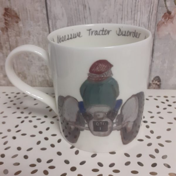 Welsh Connection china tractor mug