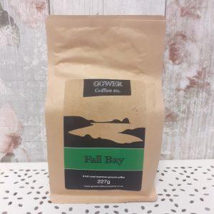 ground coffee by gower coffee company, fall bay