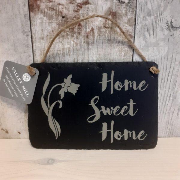 welsh slate home sweet home sign