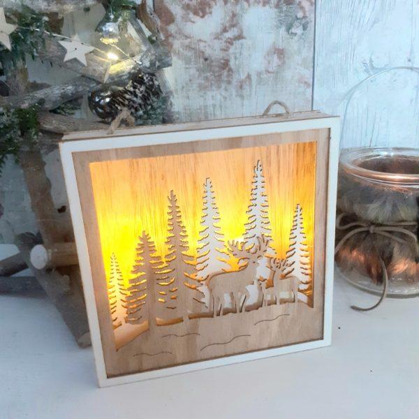 LED Christmas forest scene