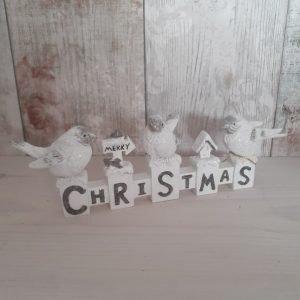 Merry Christmas bird sign
