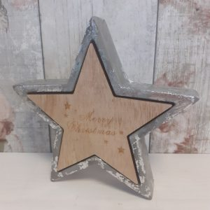 cement christmas star decoration