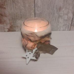 fur candle holder