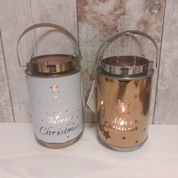 merry christmas metal lanterns