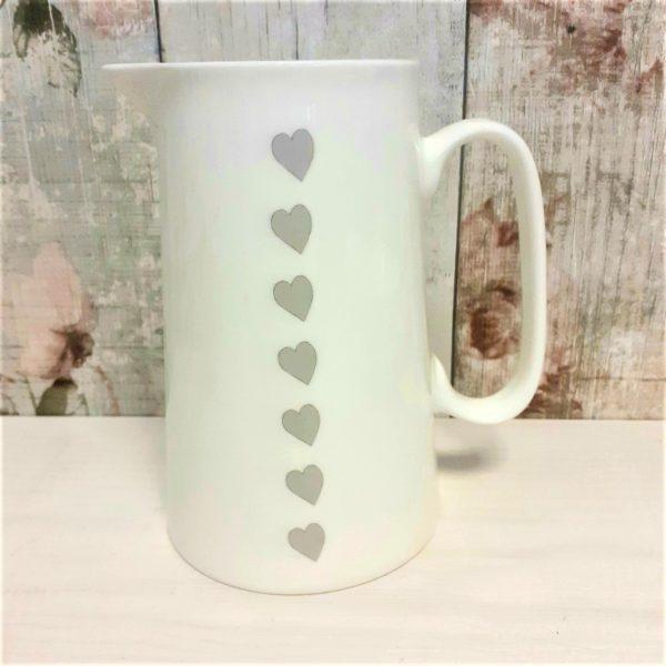 hearts china jug