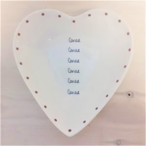 welsh china cariad heart bowl