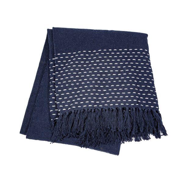 navy stitched blanket