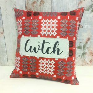 welsh tapestry fabric personalised cushion