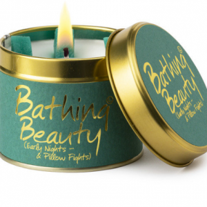 lily flame bathing beauty scented tin candle