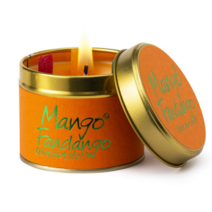 lily flame mango fandango scented tin candle