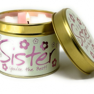 lily flame sister tin candle