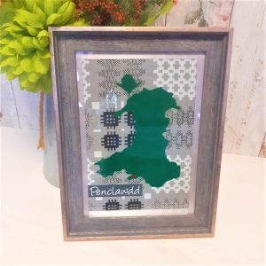 personalised map of wales frame