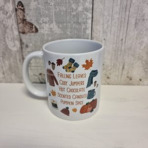 autumn things ceramic mug