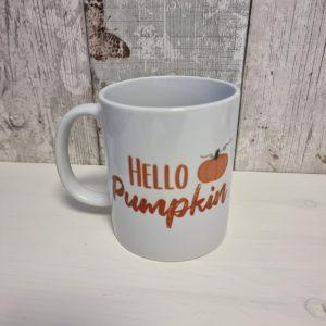 hello pumpkin ceramic mug