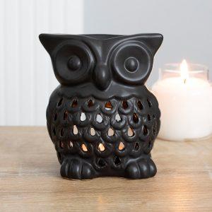 black owl fragrance candle burner